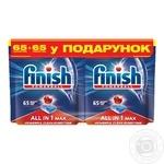 Таблетки для посудомоечных машин Finish 2x65шт