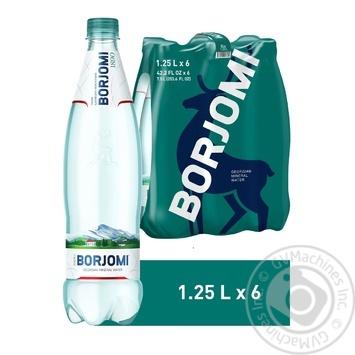 Вода Borjomi минеральная лечебно-столовая сильногазированная  пластиковая бутылка 1,25л - купить, цены на Метро - фото 3