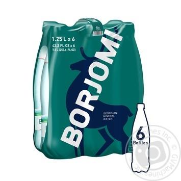 Вода Borjomi минеральная лечебно-столовая сильногазированная  пластиковая бутылка 1,25л - купить, цены на Метро - фото 1