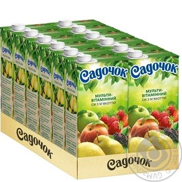 Сік Садочок Мультивітамін з м'якоттю 0.95л - купити, ціни на Фуршет - фото 3
