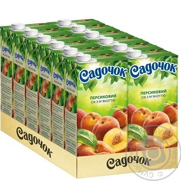 Сік Садочок персиковий 0,95л - купити, ціни на МегаМаркет - фото 3