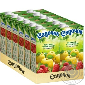 Sadochok apple-strawberry juice 0,95l - buy, prices for Furshet - image 4