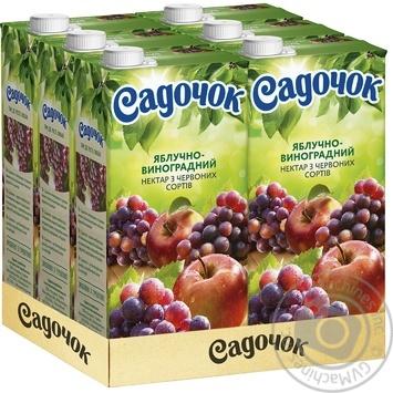 Нектар Садочок яблочно-виноградный из красных сортов 1,93л - купить, цены на Novus - фото 3