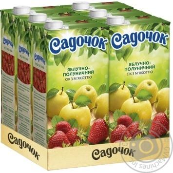 Сок Садочок яблочно-клубничный 1,93л - купить, цены на Ашан - фото 3