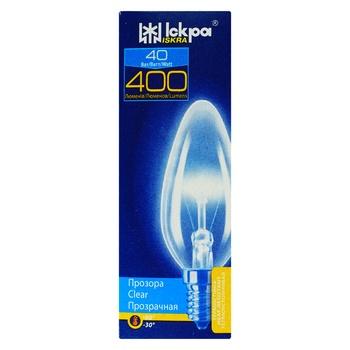 Лампа розжарювання Іскра 40Вт Е14 прозора - купити, ціни на Novus - фото 1