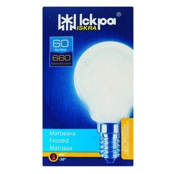 Лампа матовая Искра PS45 Т 230B 60Вт Е14 - купить, цены на Ашан - фото 1