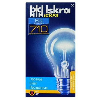 Лампа Искра А50 60Вт Е27 - купить, цены на Ашан - фото 1