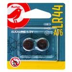 Батарейки Auchan алкалиновые LR44 A76 1.5V 2шт