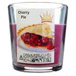 Свічка Pragnis у склянці вишневий пиріг 79X83мм