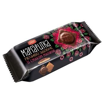 Печенье Делиция Маргаритка сдобное в темной глазури со вкусом малины 150г - купить, цены на СитиМаркет - фото 2