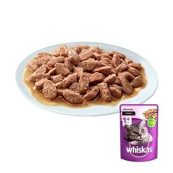 Корм для котов Whiskas с лососем в соусе 100г - купить, цены на ЕКО Маркет - фото 7