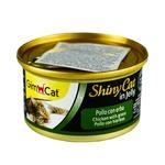 Корм вологий GimCat ShinyCat in Jelly з куркою і травою для кішок 70г