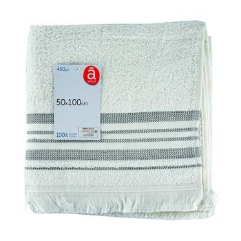 Полотенце Actuel белое хлопок 450GSM 50*100см - купить, цены на Ашан - фото 1