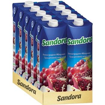 Нектар Sandora виноградно-яблочно-гранатовый 0,95л - купить, цены на Метро - фото 2