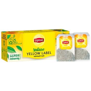 Чай черный Lipton Yellow Label байховый 25шт*2г - купить, цены на СитиМаркет - фото 2