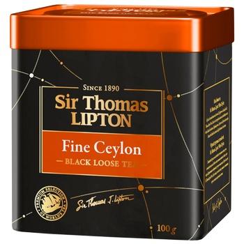 Lipton Yellow Sir Thomas Black Tea 100g - buy, prices for CityMarket - photo 1