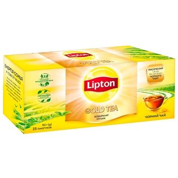 Чай черный Lipton Gold 25шт*2г - купить, цены на Ашан - фото 2