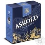Черный чай Аскольд Высокогорный цейлонский байховый мелкий в пакетиках 100х2г