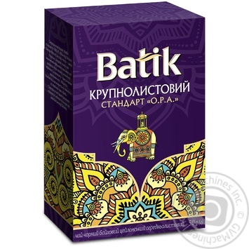 Tea Batik black loose 50g cardboard packaging Ukraine - buy, prices for MegaMarket - image 1