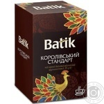 Tea Batik Korolevskiy standart black loose 85g cardboard packaging