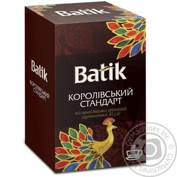 Чай Батик Королевский стандарт черный 85г