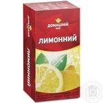 Чай Лимонный Домашний чай черный 1.5г х 20шт