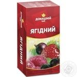 Чай Лесная ягода Домашний чай черный 1.5г х 20шт