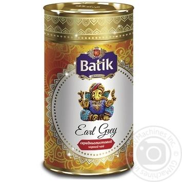 Чай Батик Эрл грей черный листовой с ароматом бергамота 100г