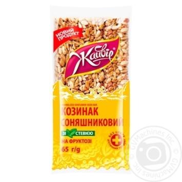 Козинак Жайвір подсолнечный на фруктозе со стевией 65г - купить, цены на МегаМаркет - фото 1