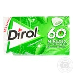 Dirol 60 minutes with mint chewing gum 18g - buy, prices for MegaMarket - image 1