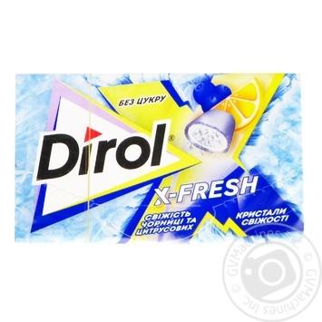 Жувальна гумка Dirol X-fresh свіжість чорниці та цитрусових 18г - купити, ціни на Novus - фото 1