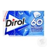 Жувальна гумка Dirol 60 minutes зі смаком крижаної м'яти 18г - купити, ціни на МегаМаркет - фото 1