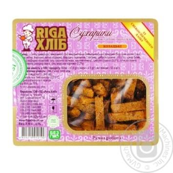 Сухарики RIGA ХЛІБ житні солоні з цибулею 100г - купити, ціни на Метро - фото 2