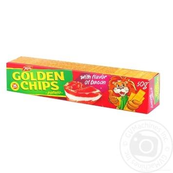 Чіпси Жайвір Золотисті картопляні зі смаком бекона 50г