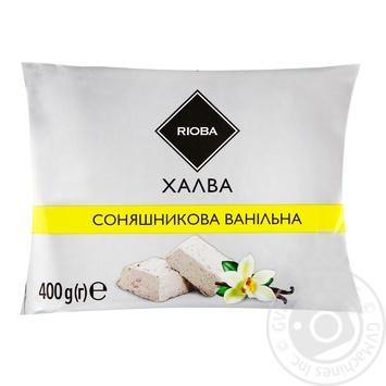 Халва Rioba соняшникова ванільна 400г - купити, ціни на Метро - фото 1