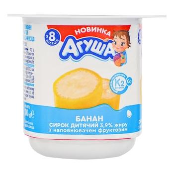 Сырок Агуша детский банан с 8мес 3,9% 100г - купить, цены на Фуршет - фото 1
