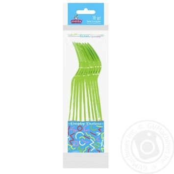 Eventa Forks Disposable PS Plastic 10pcs - buy, prices for Novus - image 1