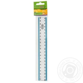 The Zibi Plastic Ruler With Color Strip 20cm - buy, prices for CityMarket - photo 3
