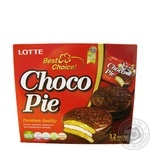 Печиво бісквітне Lotte Choco Pie прошароване глазуроване 12*28г 336г