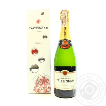 Шампанське Taittinger Brut Reserve 12.5% 0,75л - купити, ціни на CітіМаркет - фото 1