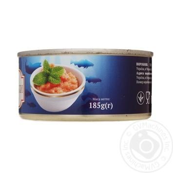 Ікра тріскі ALBA FOOD стерилізована ж/б 185г х24