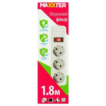 Power strips Maxxter 180cm - buy, prices for Auchan - image 1