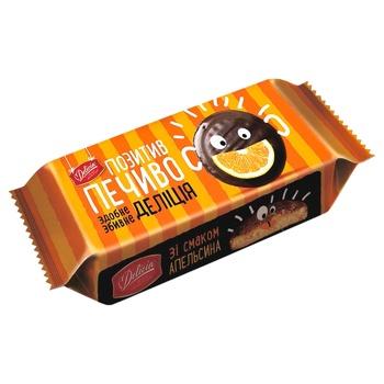 Печиво Деліція зі смаком апельсина здобне 135г - купити, ціни на Ашан - фото 2