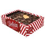 Печенье Делиция в черном шоколаде со вкусом апельсина 500г - купить, цены на Фуршет - фото 2