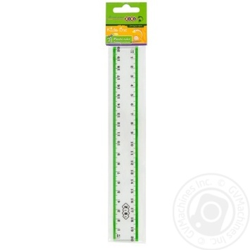The Zibi Plastic Ruler With Color Strip 20cm - buy, prices for CityMarket - photo 5
