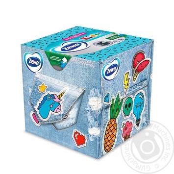Салфетки косметические Zewa Kids Zoo Cube детские 3-х слойные 60шт - купить, цены на Novus - фото 3