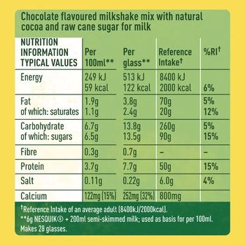 NESTLÉ® NESQUIK® ALL NATURAL chocolate flavour milk powder 168g - buy, prices for CityMarket - photo 3