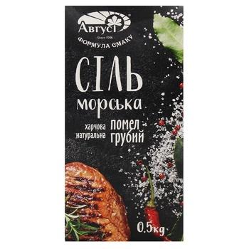 Avgust Sea Salt Ground №3 500g - buy, prices for CityMarket - photo 1