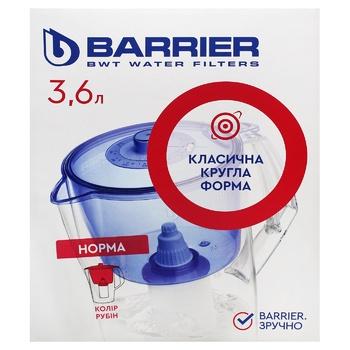 Фільтр-глечик Barrier Норма рубін 3,6л