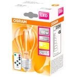 Osram LED Lamp A60 E27 9W + remote control